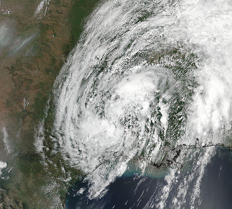 Tropical Depression Cindy satellite