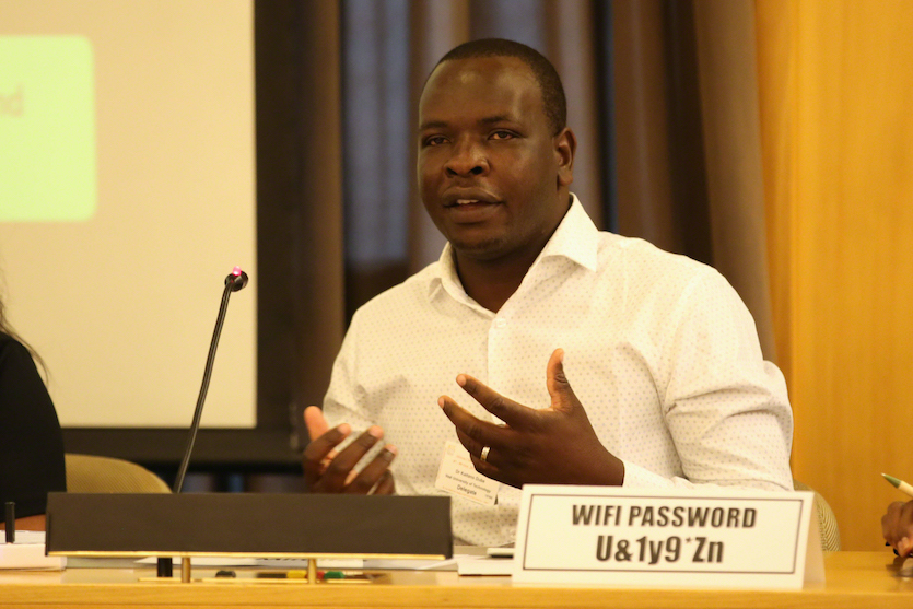 Kaitano Dube at the 2019 African Climate Risks Conference in Addis Ababa, Ethiopia, on October 7, 2019