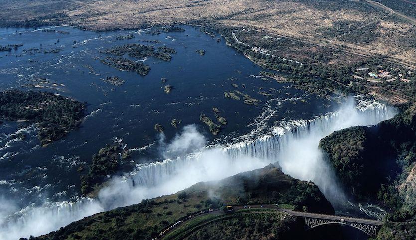 Victoria Falls at full flow, 6/29/18