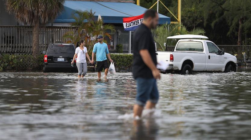 King-tide flooding in Miami Beach, Nov. 2016