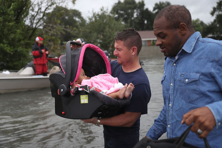 Baby rescued in Port Arthur, TX, after Harvey on 8/30/2017