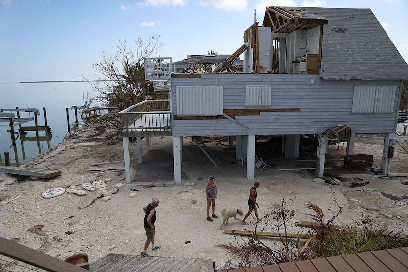 Damage on the Florida Keys from Hurricane Irma, 9/2017