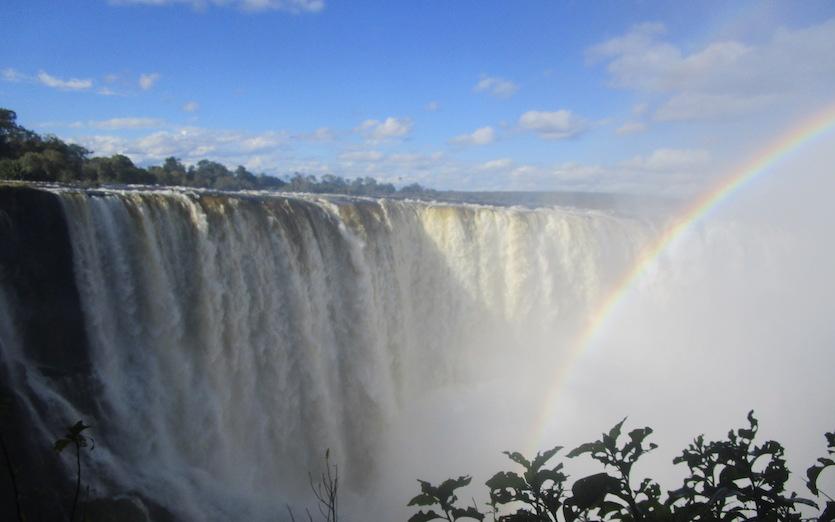 Victoria Falls at full flow, 4/26/17
