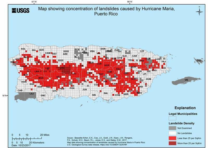 Maria landslides