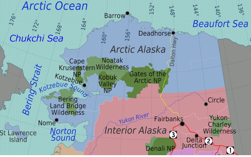 Map of northern Alaska