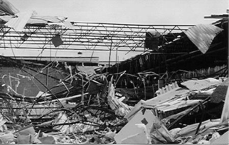 Damage to Albertsons grocery, Cedar Park, TX, 5/27/1997
