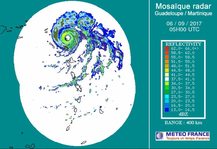 Irma on radar, 1 AM 9/6/2017