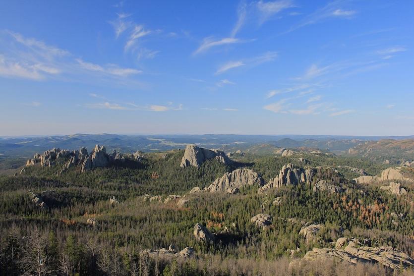 Black Hills of South Dakota from Harney Peak