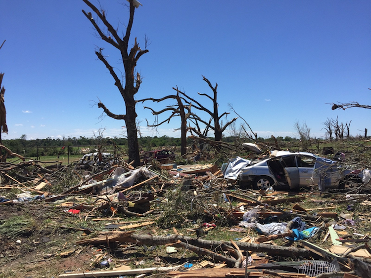 Tornado damage surveyed in Canton, TX, from Sat. 4/29/2017