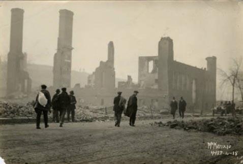 Cloquet Fire damage, 1918