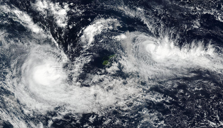 TC Donna (left) and Ella (right) at 0354Z on 5/9/2017