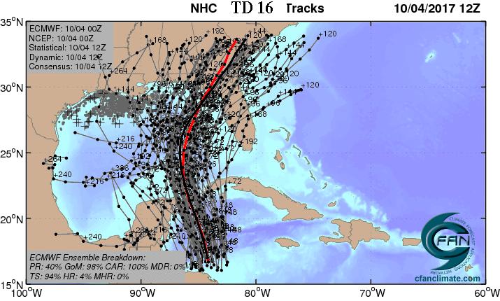 TD 16 forecast
