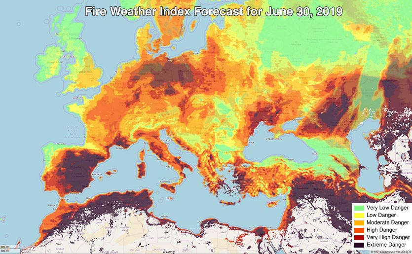 Fire weather forecast
