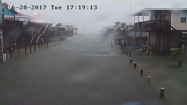 Flooding in Grand Isle, LA, 6/20/2017