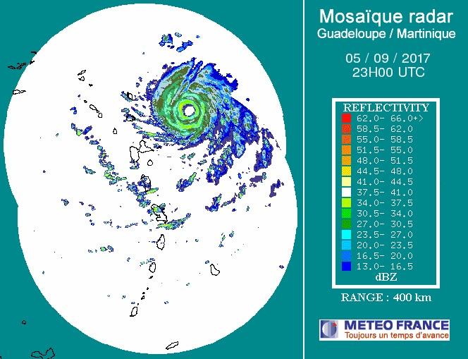 Irma on Martinique radar, 2300Z 9/5/2017