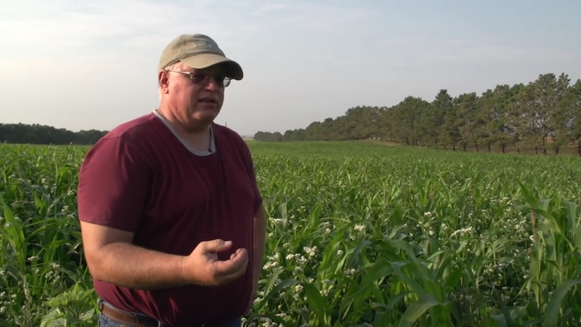 Gabe Brown describes his efforts to increase carbon stocks in the soil at his farm in central North Dakota