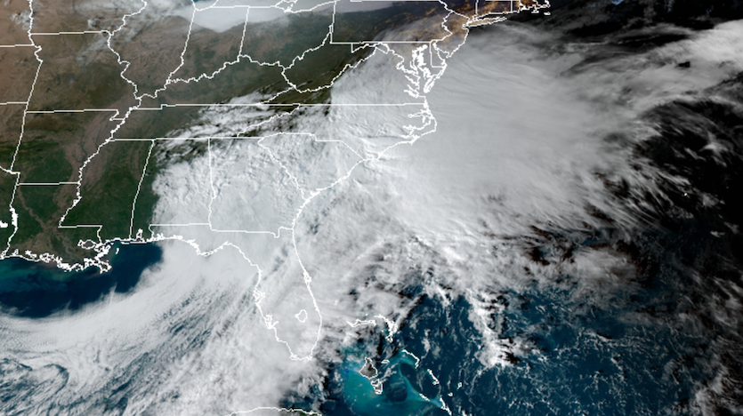 GeoColor image of Southeast storm at 2040Z 11/15/19