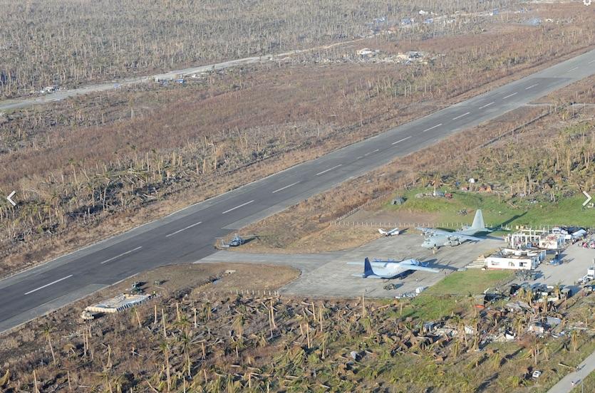 Devastation at the Guiuan airport, Samar Island, on 11/17/2013 following Haiyan