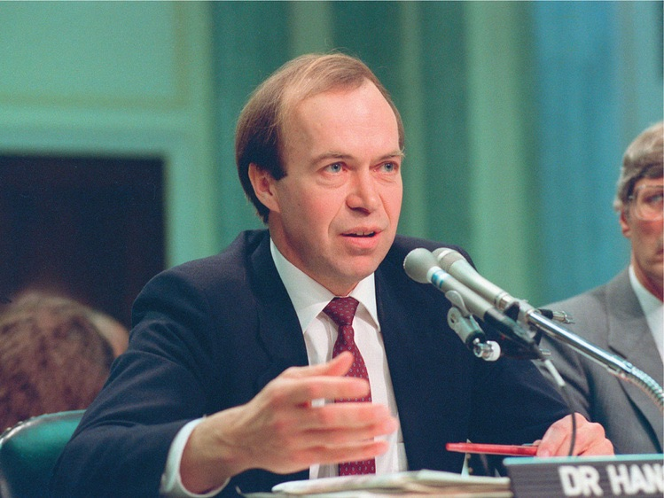 Dr. James Hansen testifies before Congress on June 23, 1988