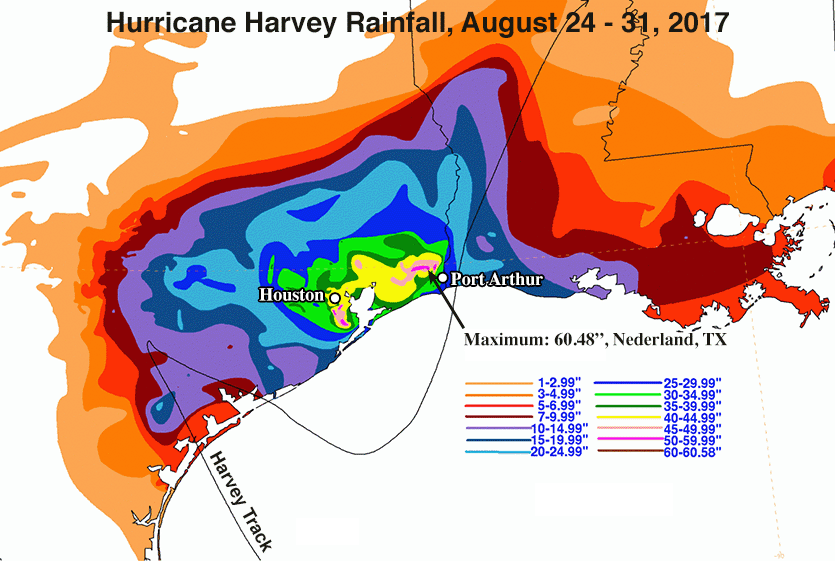 Harvey rainfall