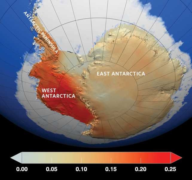 Antarctic warming