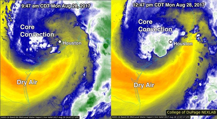 Harvey water vapor satellite