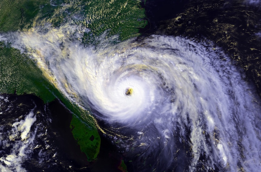Hurricane Hugo approaching South Carolina on 9/21/1989
