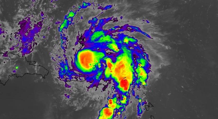 Infrared image of Hurricane Dorian at 2330Z 8/28/19