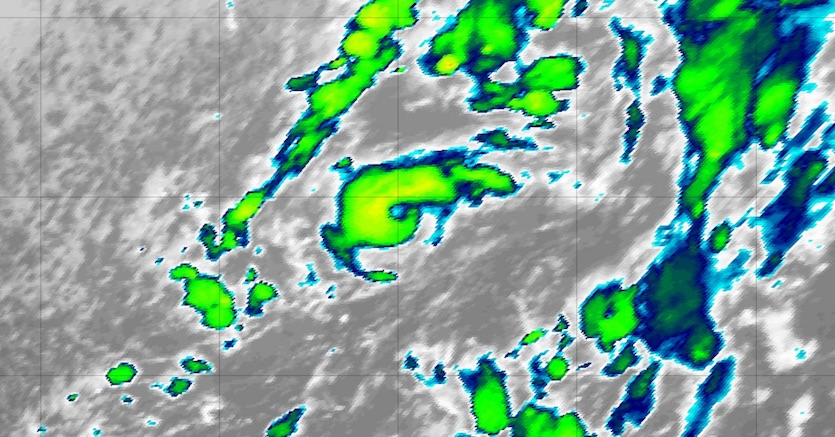 Infrared image of Pablo at 2045Z 10/25/19