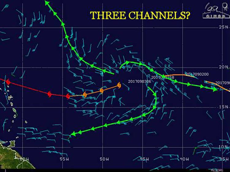 Outflow channels with Irma, 6Z 9/3/2017