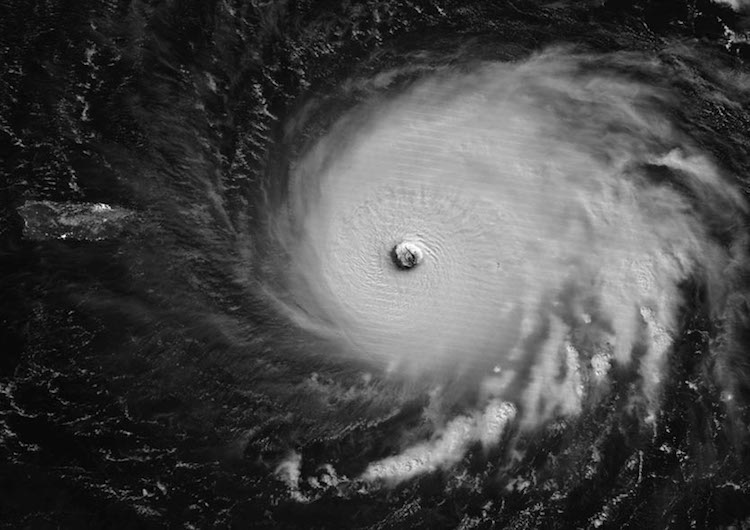 VIIRS image of Irma by moonlight, 9/6/2017