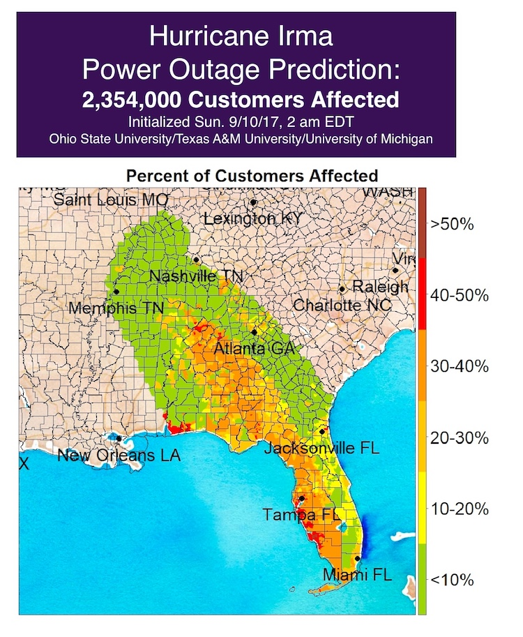 Irma power outages