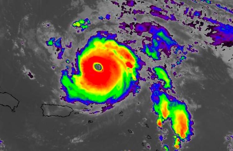 Infrared satellite image of Hurricane Jose, 0530Z 9/10/2017