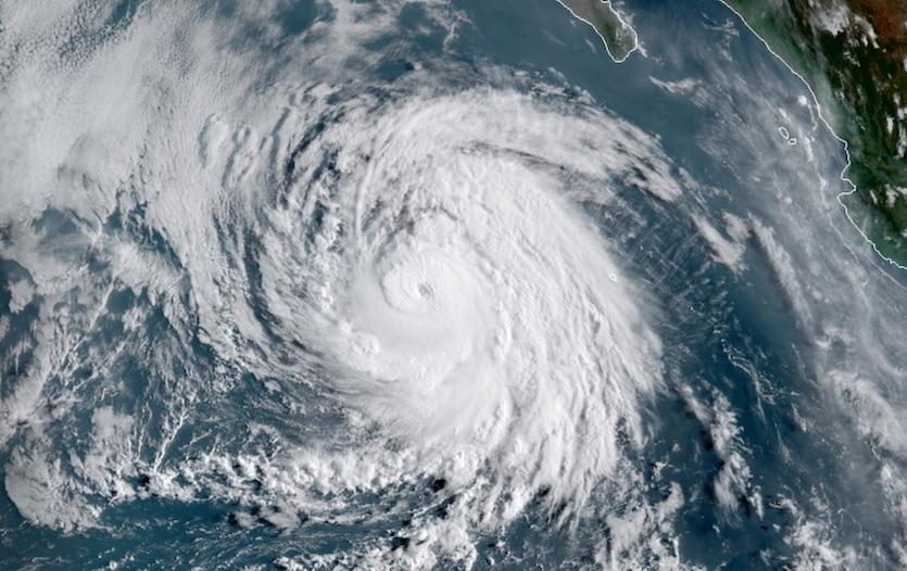 Visible satellite image of Hurricane Juliette at 1500Z 9/3/19