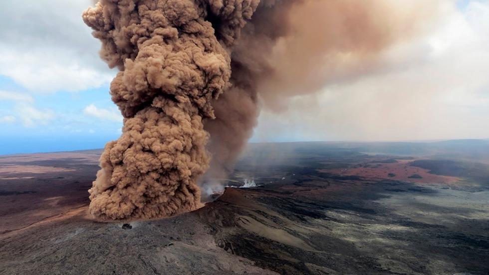 Eruption of Mt. Kilauea on May 4, 2018