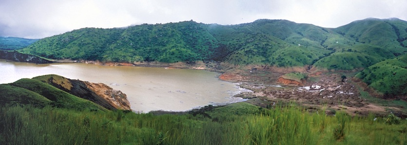 Lake Nyos, 1986, a few days after a catastrophic eruption
