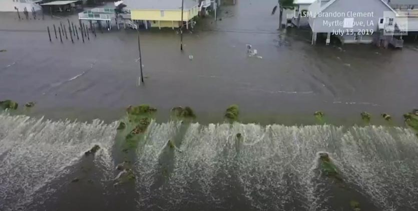 Storm surge flooding