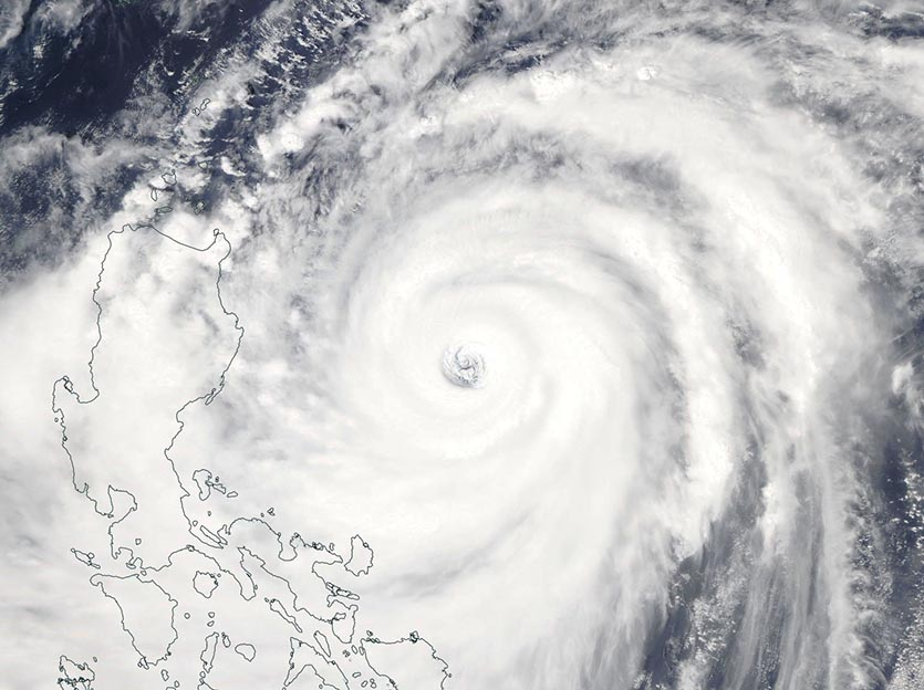 MODIS image of Super Typhoon Mangkhut on Friday afternoon, September 14, 2018
