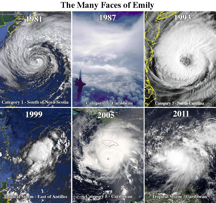 The storms named Emily