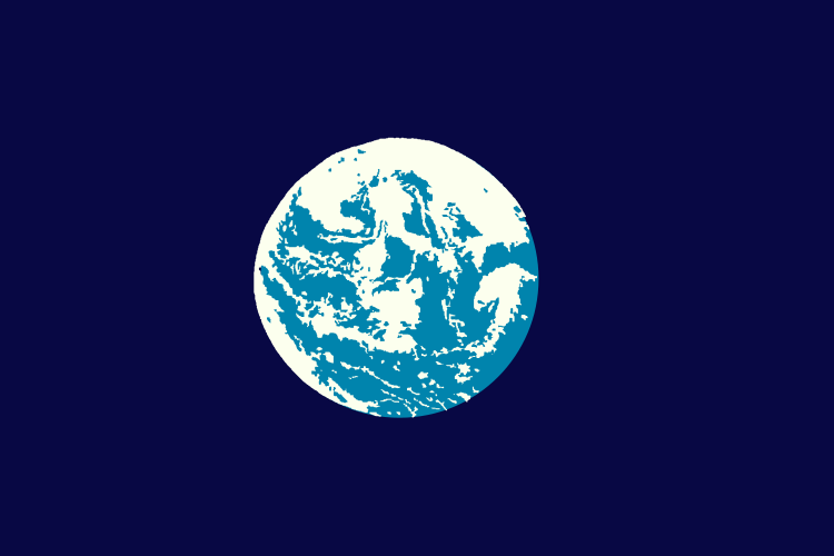 Earth Day flag designed by John McDonnell, 1969