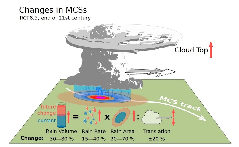 Schematic of MCS processes and projected changes