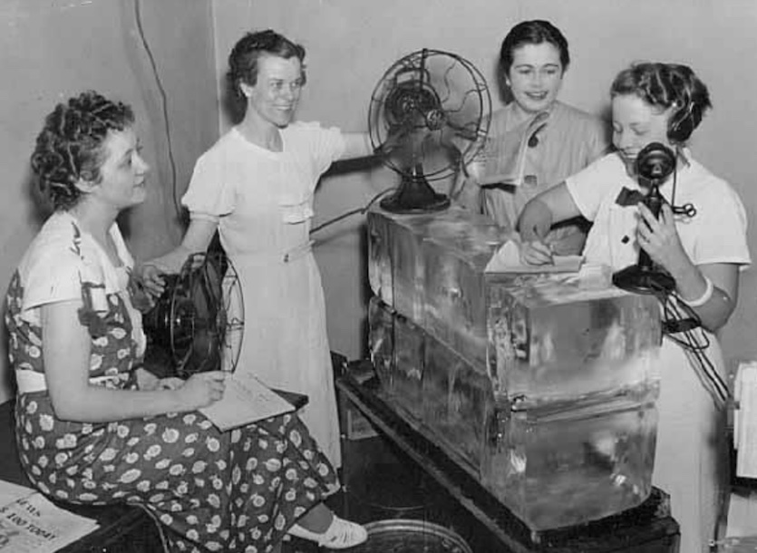 When the temperature peaked at an all-time high of 108°F in Minneapolis, Minnesota, on July 14, 1936, the want-ad staff at the St. Paul Daily News was provided with 400 pounds of ice and two electric fans to cool the air in the press room