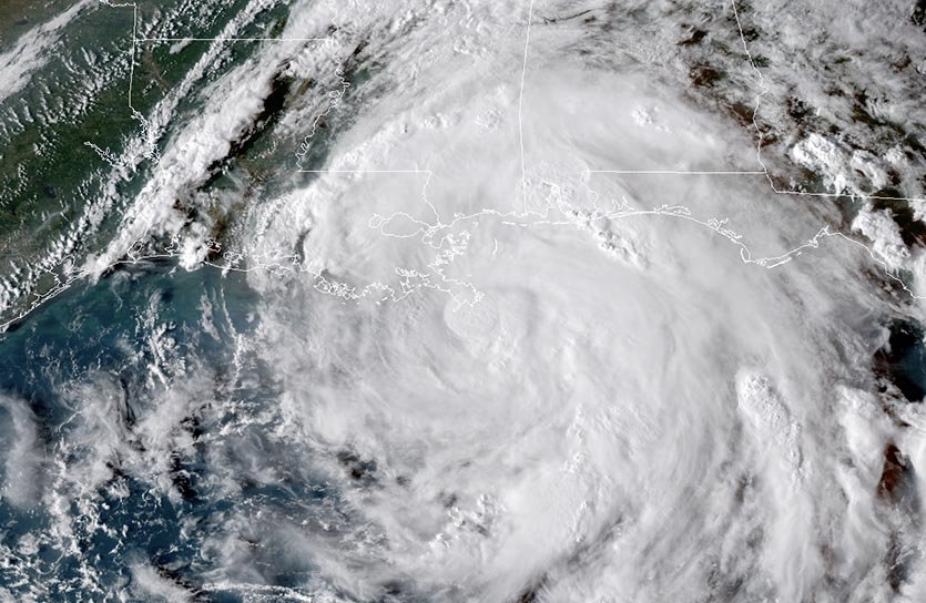 GOES-16 view of Hurricane Nate at 22Z (6 pm EDT) Saturday, October 7, 2017