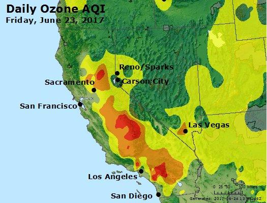 June 23 ozone pollution
