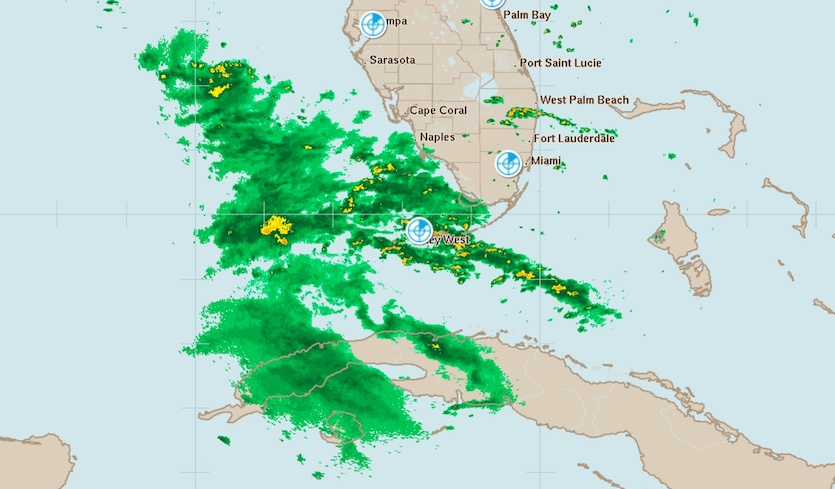 Key West radar image of Michael at 10:05 ET 10/10/2018