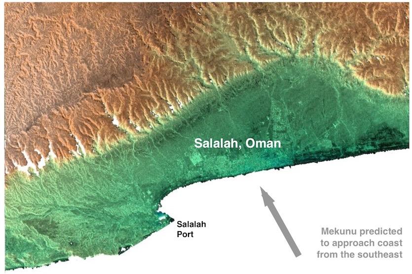 Topography of Salalah, Oman
