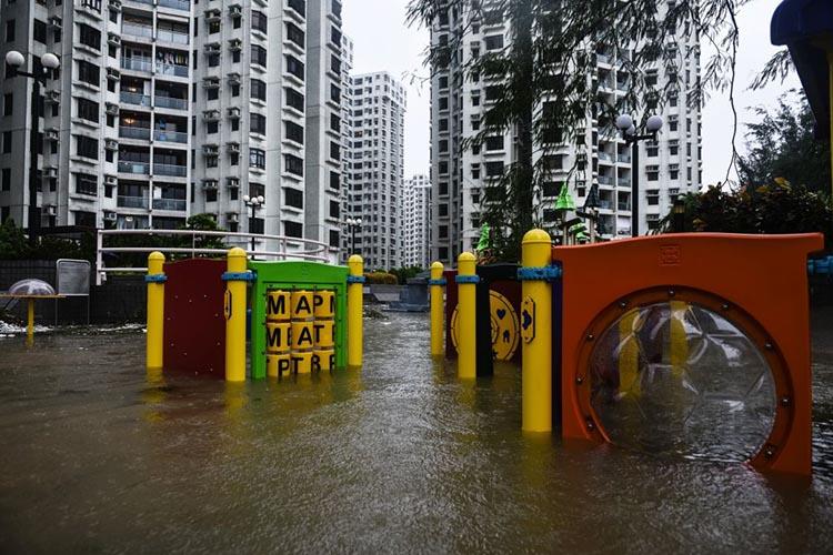 Typhoon Hato flood