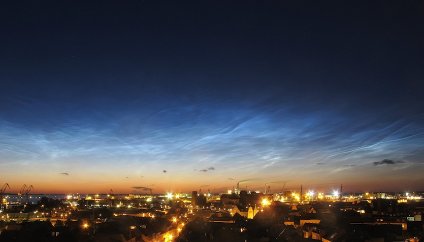 Noctilucent clouds over Wismar, Germany
