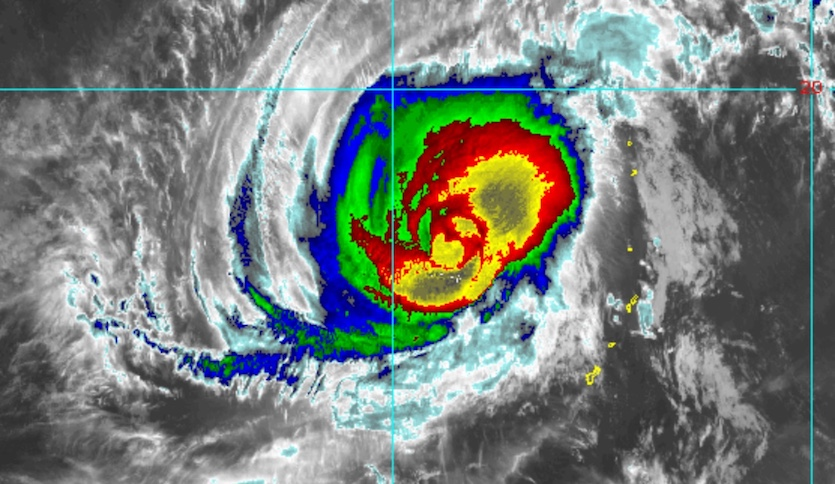 Enhanced infrared image of Super Typhoon Yutu as of 1735Z (1:35 pm EDT) Thursday, October 25, 2018