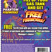 Fireworks Gas Coupon